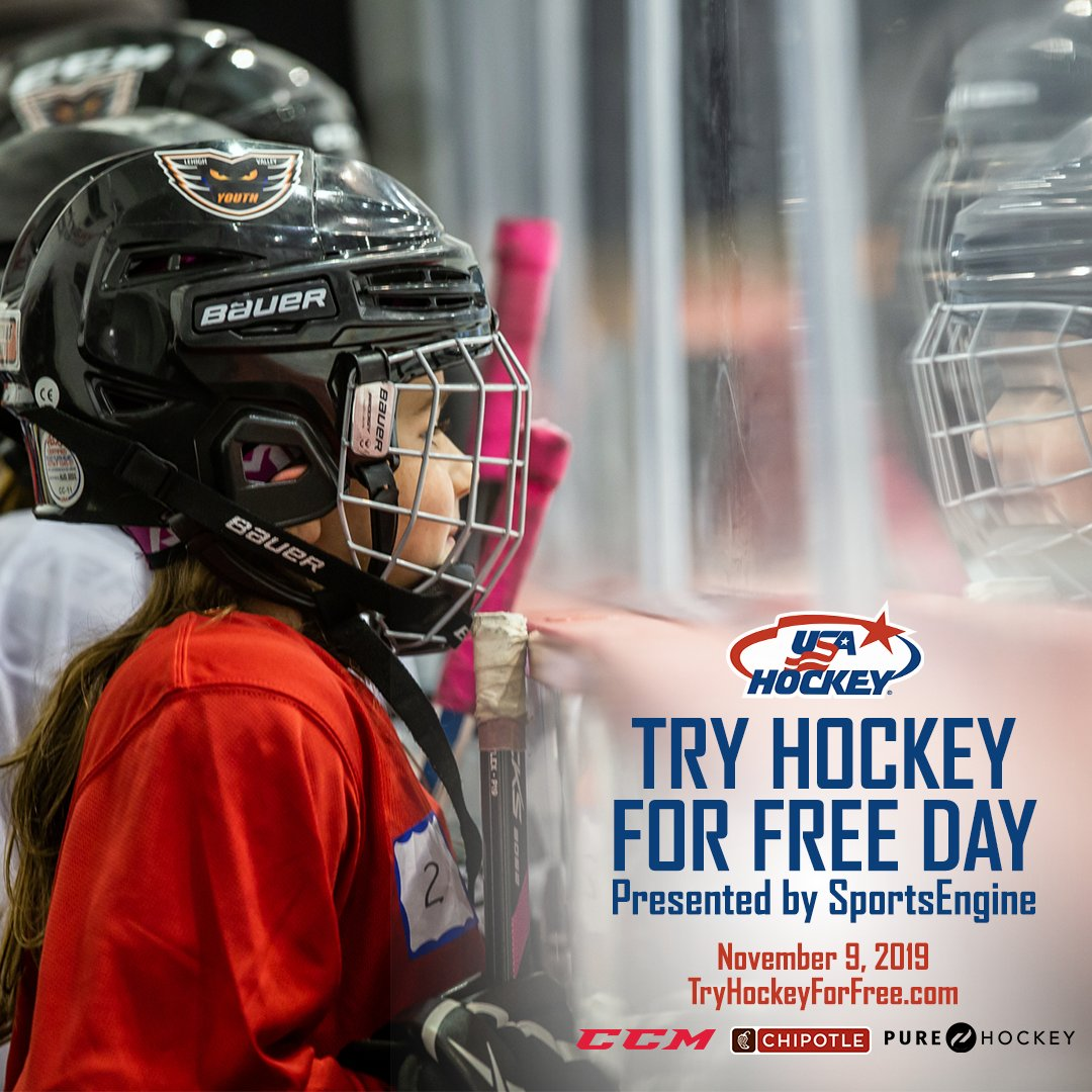 Were just one week away from #TryHockey for Free Day, presented by @SportsEngine! 🙌 Find a location near you & register → TryHockeyForFree.com