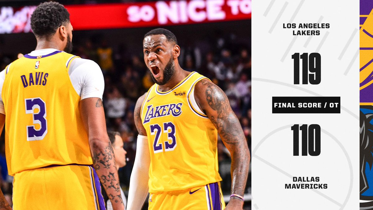 Nba On Espn On Twitter The Lakers And Mavs Served Up An