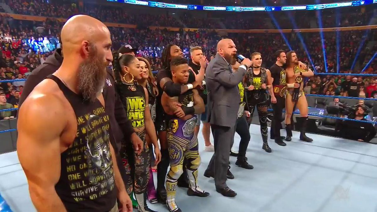 """This is our army. This is our fight. This is OUR RING.""Message SENT by @TripleH and #WWENXT ahead of #SurvivorSeries on #SmackDown!"