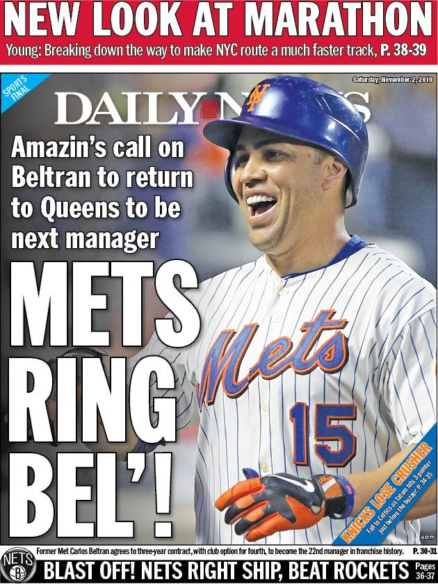 Tom Biersdorfer On Twitter Our Nydnsports Back Page Mets