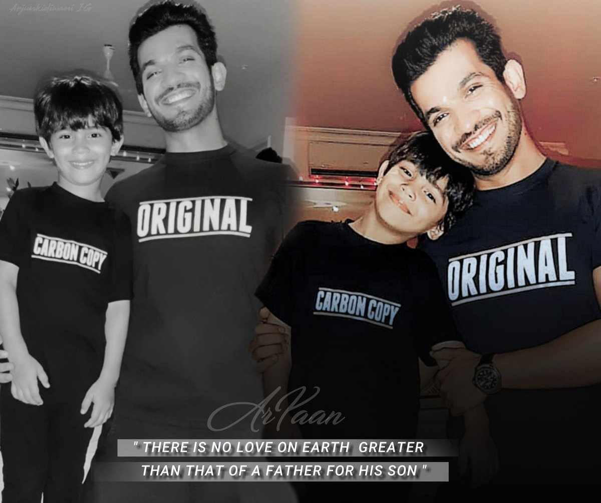 ORIGINAL & CARBON COPY  These T-shirts are Just Perfect  God Bless #ArYaan  . . . ( #ArjunBijlani #AyaanBijlani ) { #FatherSon @TheArjunBijlani }pic.twitter.com/GVayPVyGIV