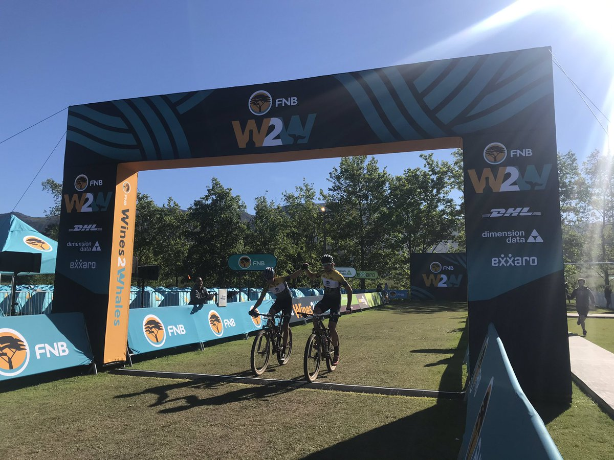 Stage 2 win for @MattBeers55  and @wesselmtb  at @w2wmtb  today🙌🏼