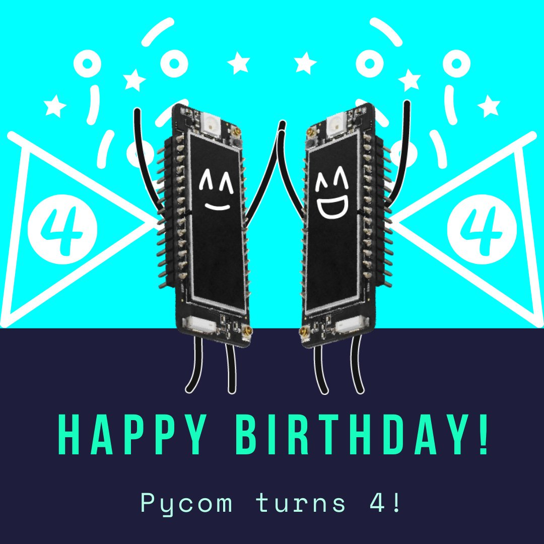 Pycom 4 years as internet of things solution company