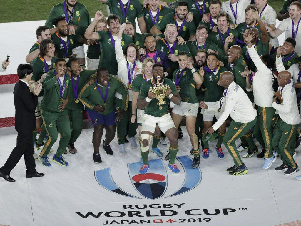 South Africa celebrates first Rugby World Cup win under black captain