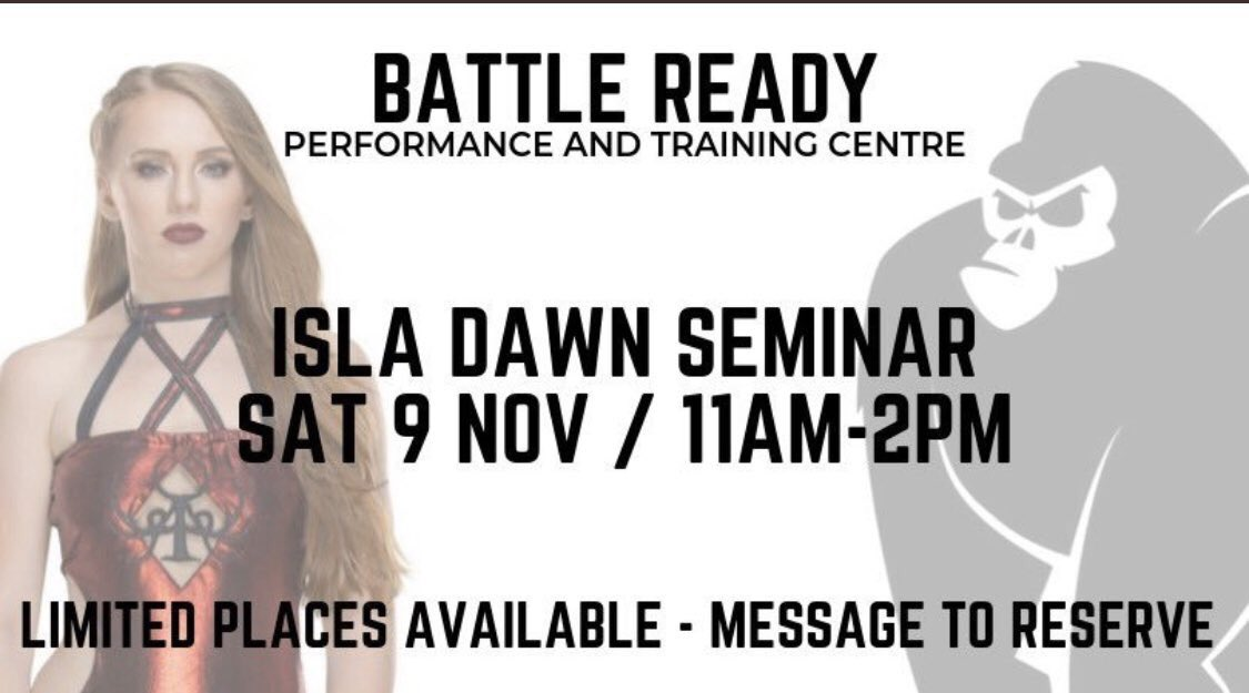 A week today I'll be taking a seminar at @BattleReadyNCL!Limited spaces available so get in touch now to book you spot 🙌🏻🌙x🦍