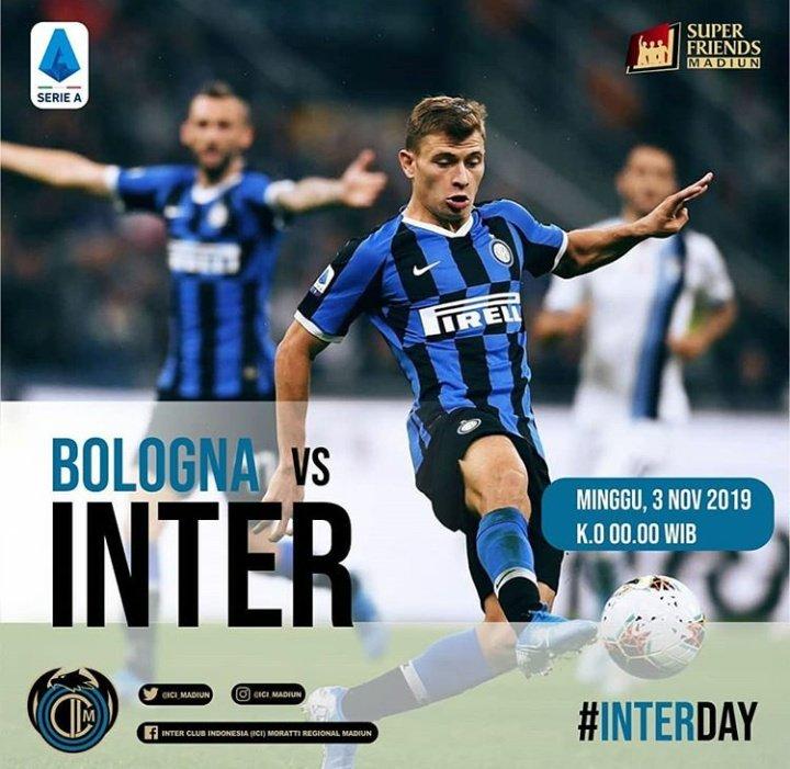 ⚽️Nobar Bologna vs @Inter 📆 Sabtu, 02-10-2019 🏠 Warung JPM (Jl.Diponegoro-Madiun) 🕦 OG : 23.30 WIB 💵 ICC : 8K / NON : 10K (Free Snack&Drink) 👕 Jersey Inter ☎️ Boby : 085790351568  @InterClubIndo #BudayakanNobar #MilanoSiamoNoi #Gruuuduuuukkkk