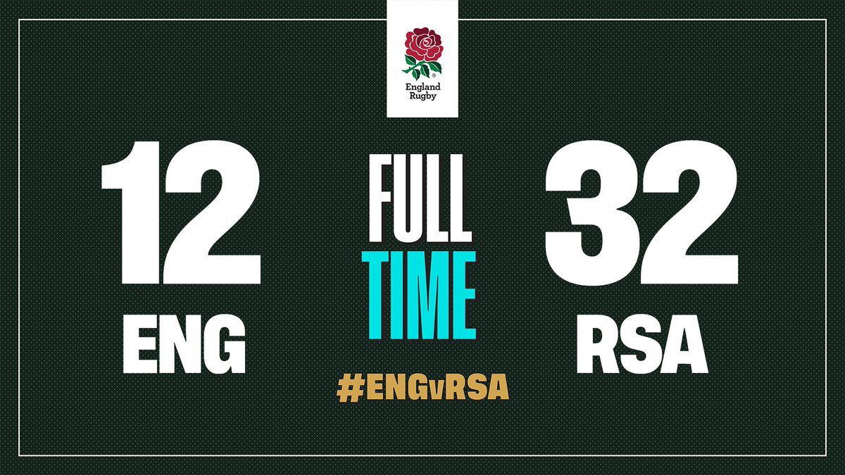 It is full time and the @Springboks have won the Rugby World Cup 👏