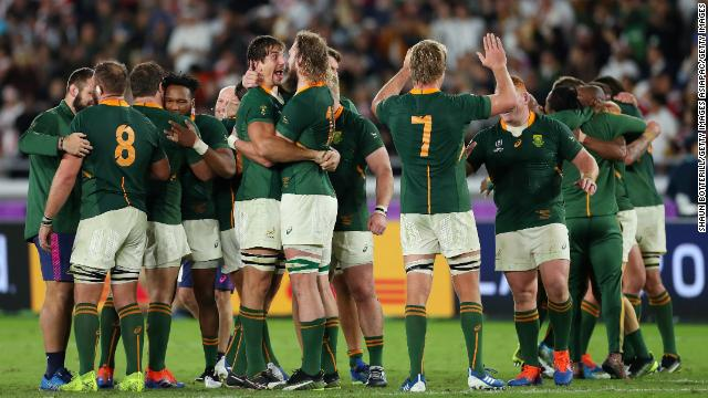 South Africa defeats England 32-12 to win the 2019 Rugby World Cup