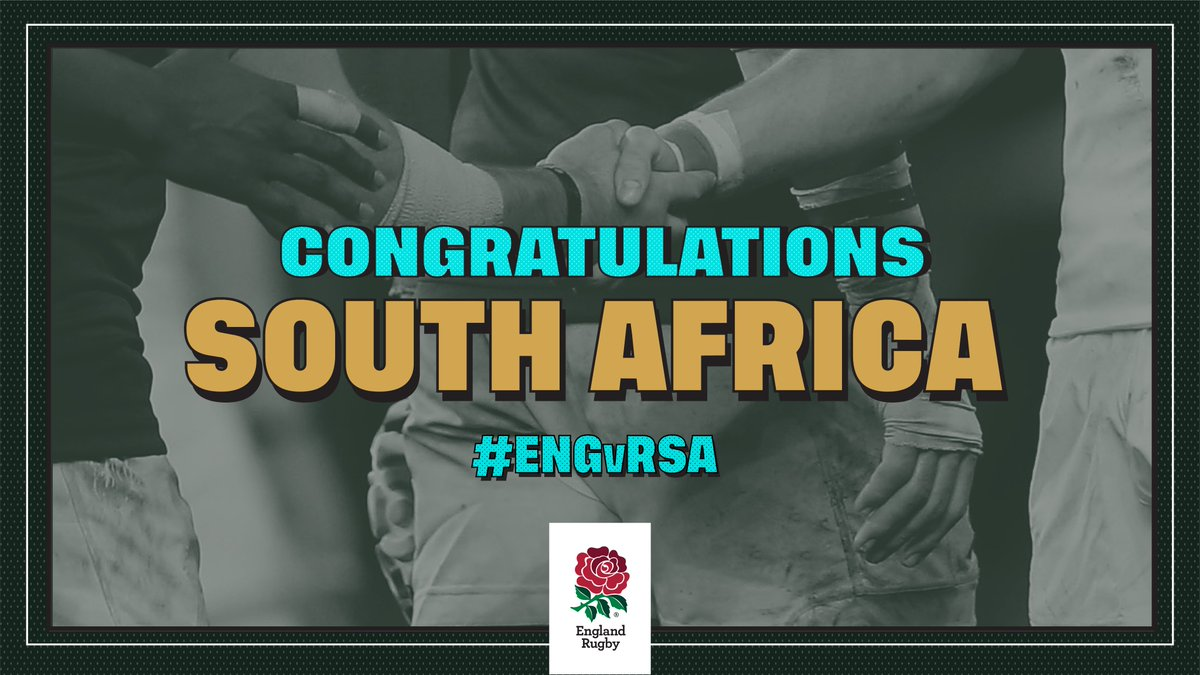 Well played @Springboks Congratulations on your third @rugbyworldcup win #RWC2019