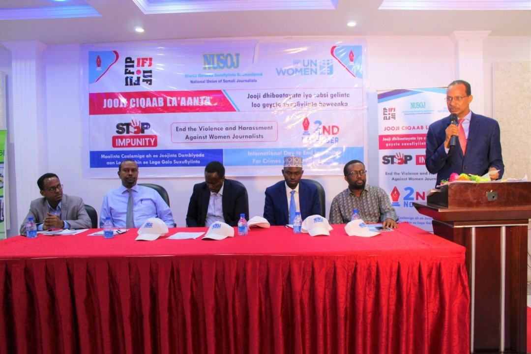On behalf of @NUSOJofficial Members I want thanks to leaders of Nusoj @IFJGlobal & supports of Somali Journalists their effort related on reducing & eleminating of Impunity. We call 4 serious human rights reform, including accountability & justice 4 dvictims of rights abuses.