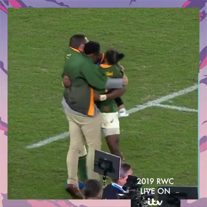 When I was a kid all I was thinking about was when I was getting my next meal. 🇿🇦 @BryanHabana - I know Madiba is up there smiling down on you. 👏 An incredibly moving interview with South Africa captain Siya Kolisi #ITVRugby #RWCFinal