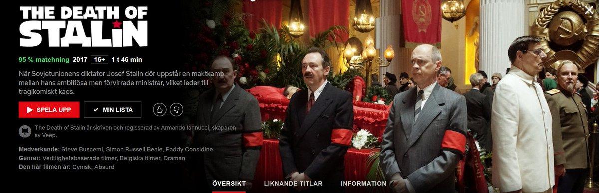 Personer med Netflix, jag kan bara rekommendera den här filmen vars satirnivå enbart matchas när @Cornubot skriver om mäklare. Dessutom förbjuden i Ryssland. Bara den saken borde övertyga er. Jag vet vad jag ska se ikväll i alla fall! #filmkväll @NetflixNordic
