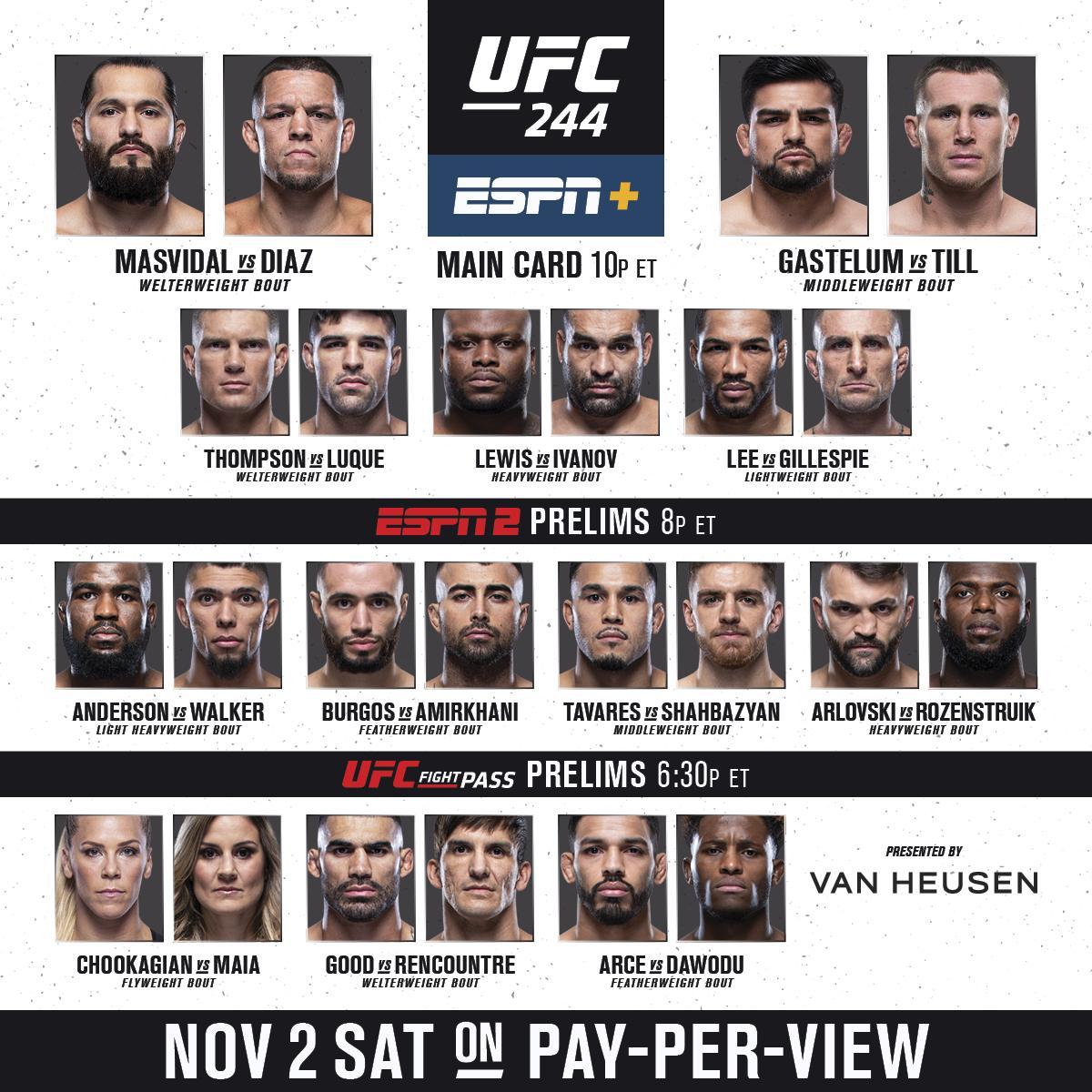 You know what day it is 🤬  🏆 The BMF belt is on the line at the World's Most Famous Arena 🗽  Get the card on PPV ➡️ https://t.co/crgIePx3AK (B2YB @VanHeusen) #UFC244 https://t.co/y0hzhD8y4n