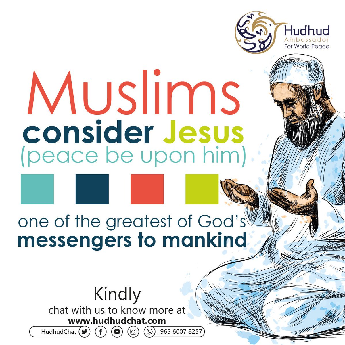 #Muslims consider #Jesus (peace be upon him) one of the greatest of #God's messengers to #mankind.  Kindly, chat with us to know more at:  https:// chat.hudhud.info      #ShareYourAnswer<br>http://pic.twitter.com/N2M7erKuAk