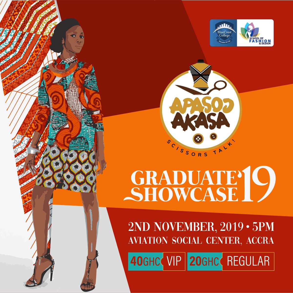 Bluecrest Ghana On Twitter Its Today You Can Still Grab Your Ticket At The Aviationsocialcenter 5 00pm Sharp A Minute Missed Is An Eye Opening Glamour Missed Apasoɔakasa Twentynineteen 2ndnovember Today Fabrics Styles Gowns