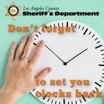 Image for the Tweet beginning: Remember @CountyofLA, #DaylightSavingTime ends Sunday,