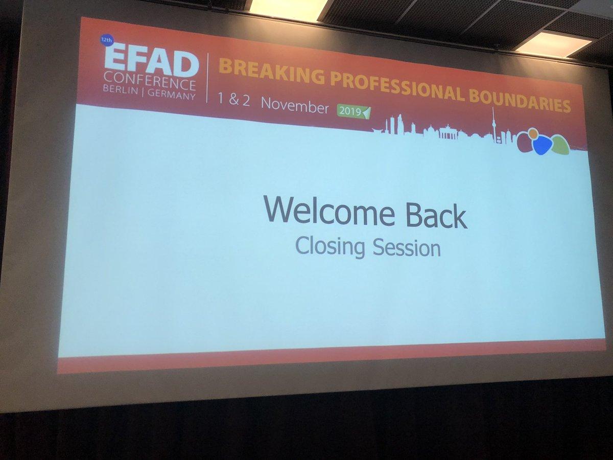 Closing session, good bye 🙋♀️#EFAD2019