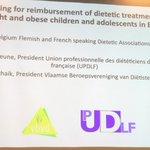 Image for the Tweet beginning: Lobbying for reimbursement of dietetic