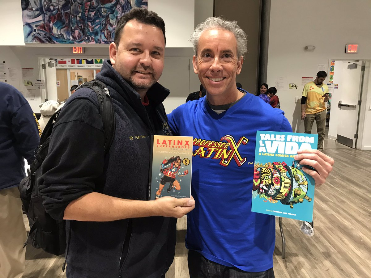 @Nerdtino meeting professor Latinx!  Looking forward to reading these books! @PRparadeNYC @listeningtoPR @tallerboricua @ProfessorLatinx @elmuseo