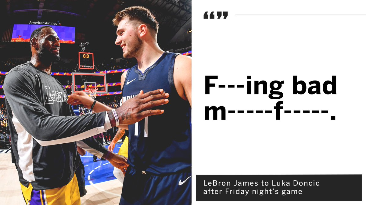 Luka looked up to LeBron growing up. What a moment this must have been 🤝