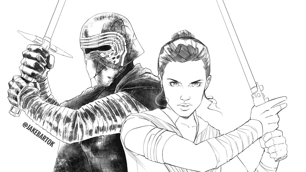Waiting For A Flight So Heres A Little Wip One Dream I Have Is To Draw A Comic Set During The Sequel Trilogy Or Star Wars In General Tbh Featuring At Least