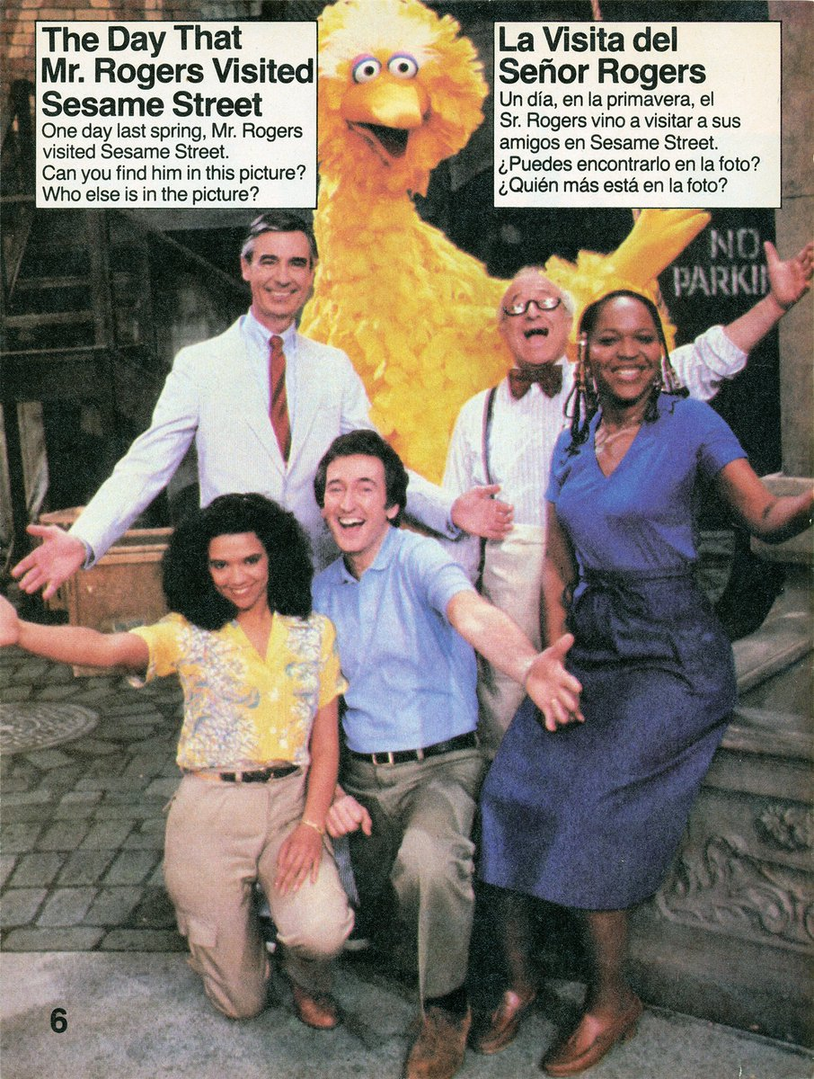 Muppet Wiki Blacklivesmatter On Twitter Mister Rogers And The Sesame Street Cast As Featured In The November 1981 Issue Of Sesame Street Magazine
