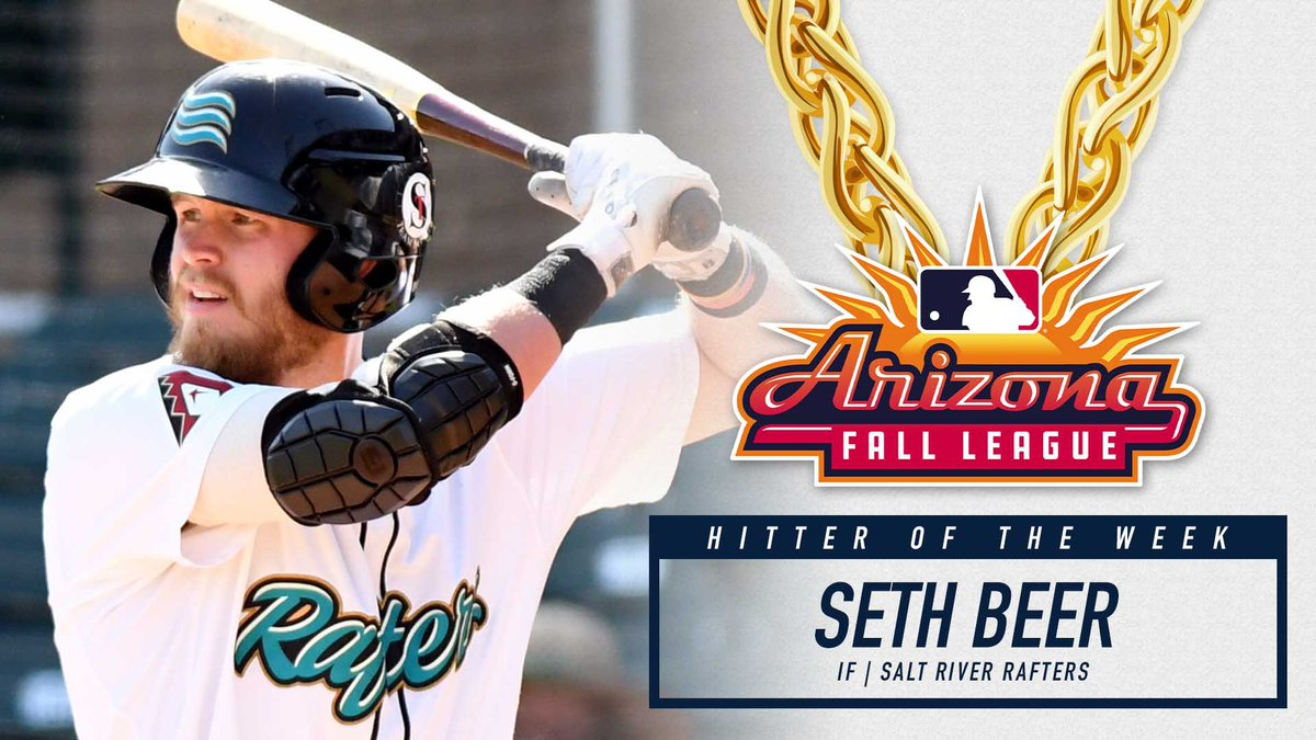The @Dbacks Seth Beer secures the final Championship Chains Hitter of the Week! Way to finish the season strong @beer_seth l!