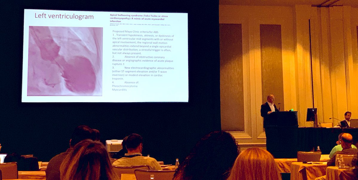 Dr Amir Lerman @MayoClinicCV at #MayoCAD2019 on apical ballooning syndrome @rajivxgulati