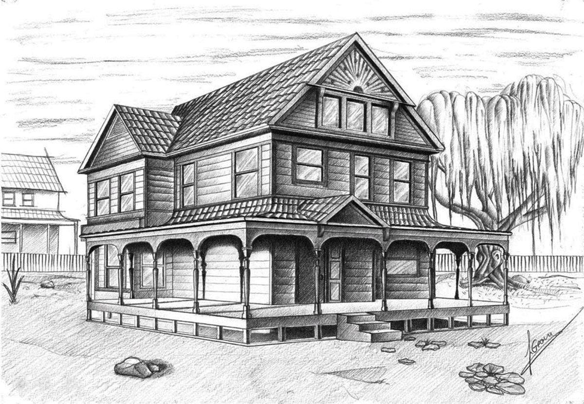 эскиз дома картинки пряники можно делать