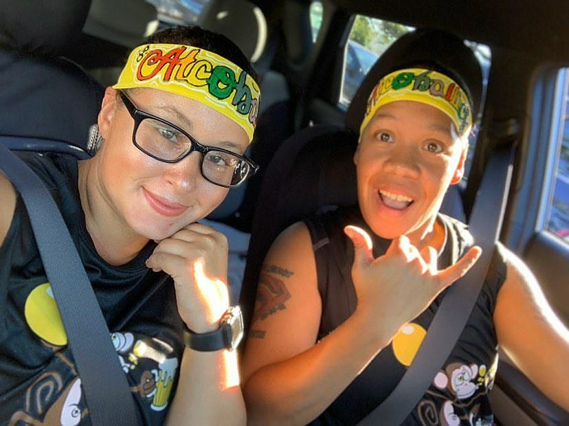 Satisfied Customers Shout Out  Check Out @cindy_babiee_86 With Her Partner, Rocking Their Special Requested #PrideHeadbands Custom Hand Painted By @wstsdeart15 Thank You For Your Business & Support, It's Always Appreciated  #BuildUrDreamMovement  #WstSdeÄrt #HappyCustomer https://t.co/JlOXqrId7u