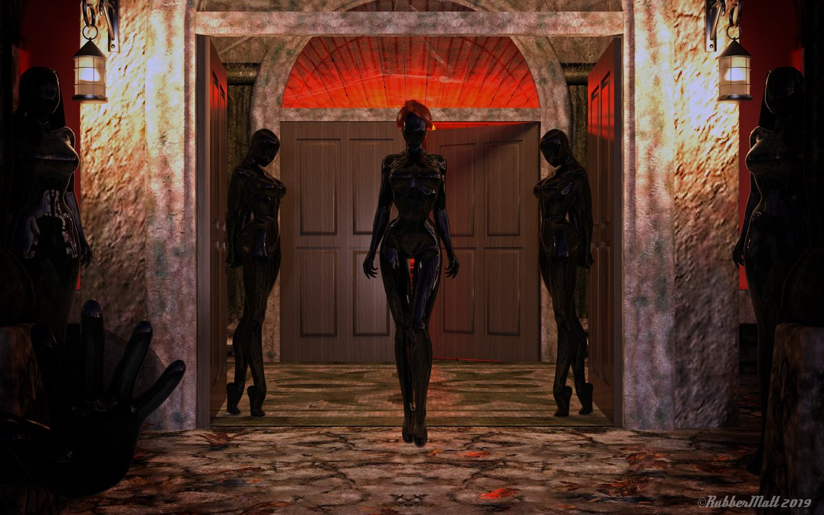 This is not what you were expectingYou try to turn away but what you thought, hoped, were statues are now behind you blocking the path.Forms coalesce out of shadows, sleek, slick and glossy .... black, shiny hands reach out to grasp you, gently but firmly There is no escape