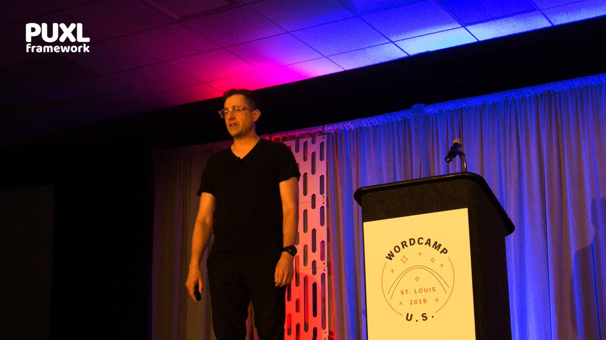 Photo of Tantek speaking on Take Back The Web at WordCamp US