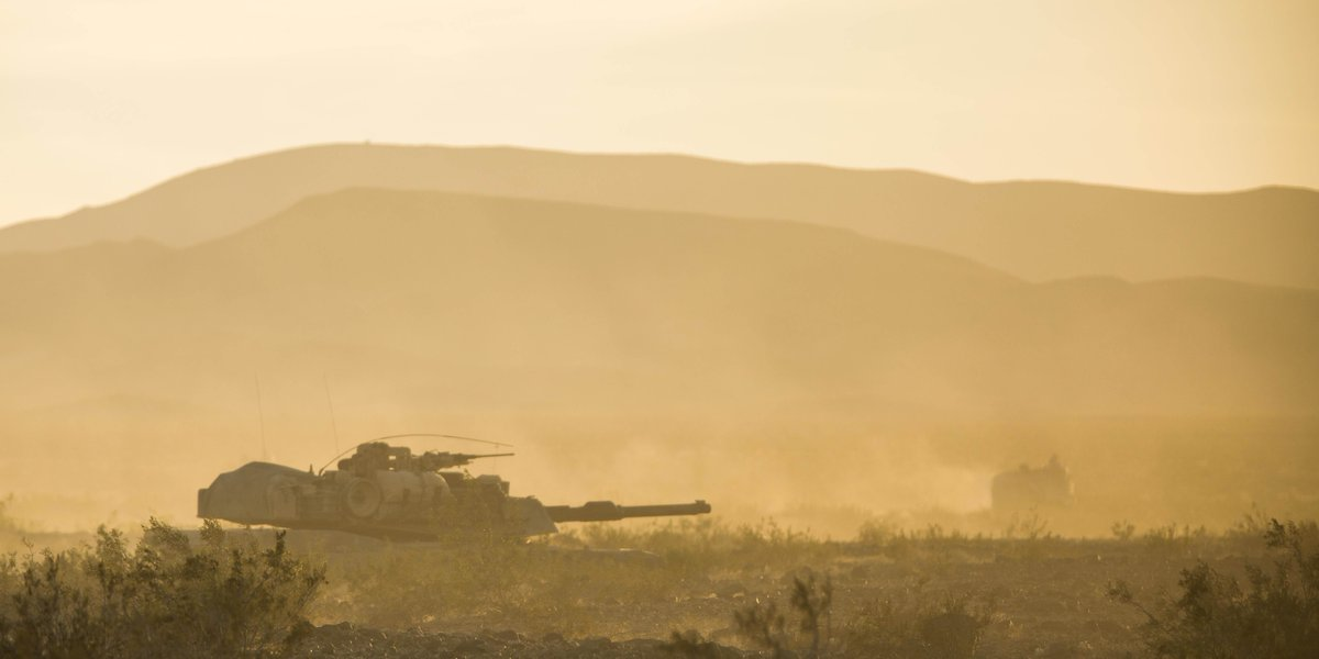 Haze Marines with 1st Tank Battalion, @1st_Marine_Div, participate in a field exercise on the @CombatCenterPAO in preparation for Exercise Steel Knight 2020.