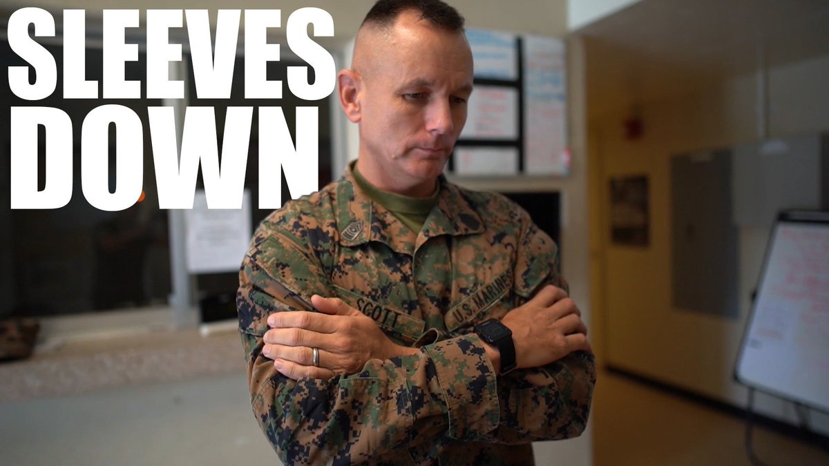 Don't be the one, Marines… Tomorrow begins our sleeves down season.