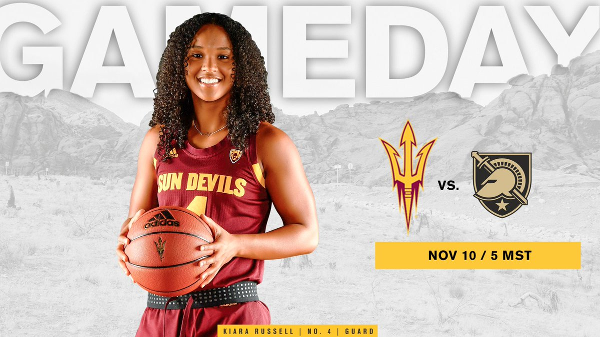 ITS GAME DAY! 🆚 Army ⏰ 5 p.m. MST 📍 Desert Financial Arena 📺 pac-12.com/live/arizona-s… 📻 NBC Sports Radio AM 1060 #ForksUp