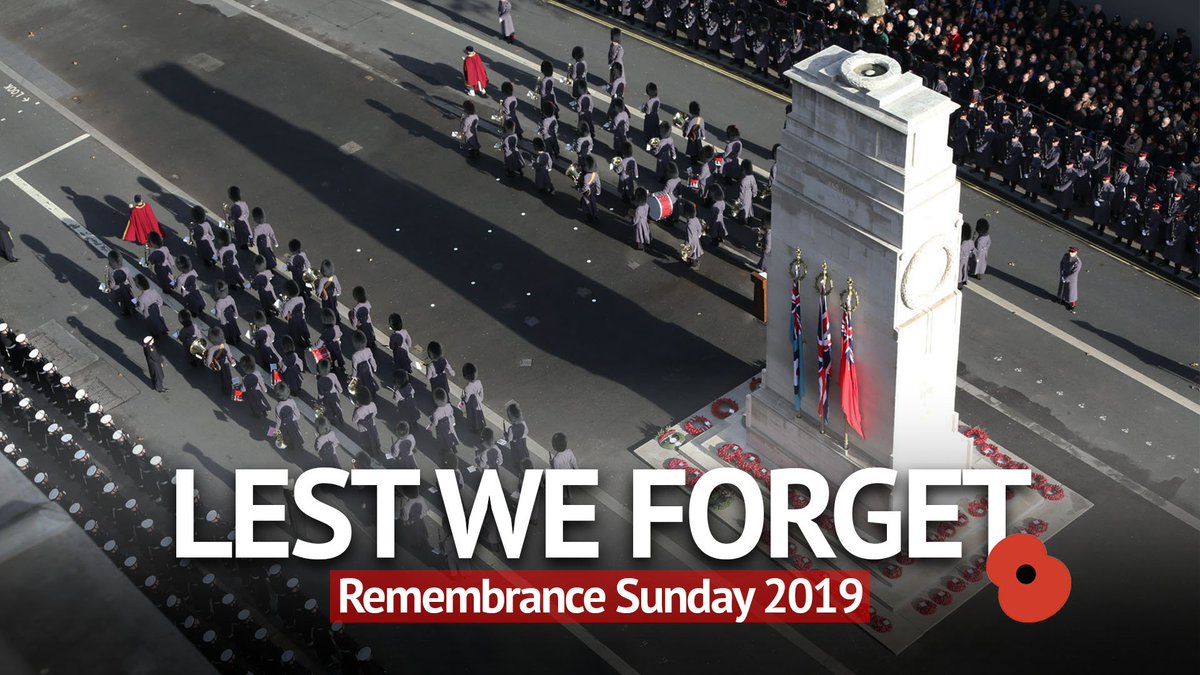 This morning, the Prime Minister will lay a wreath at the Cenotaph as Her Majesty the Queen leads the nation in the Act of Remembrance. #LestWeForget #RemembranceSunday