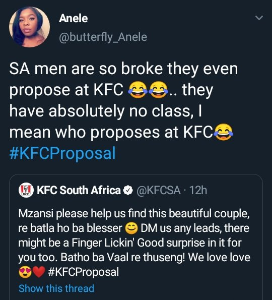 Apparently this was what triggered the #KFCProposal   May the bitterness of our enemies cause people to favour us <br>http://pic.twitter.com/0ipryTH1iq