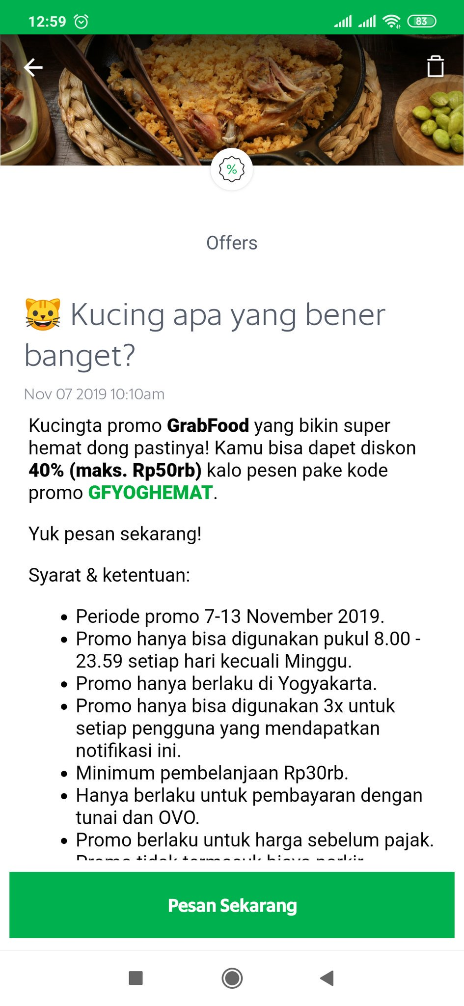 ͏í•˜ On Twitter 7 13 November 2019 Promograb Grabfood Grabpromo Jogja