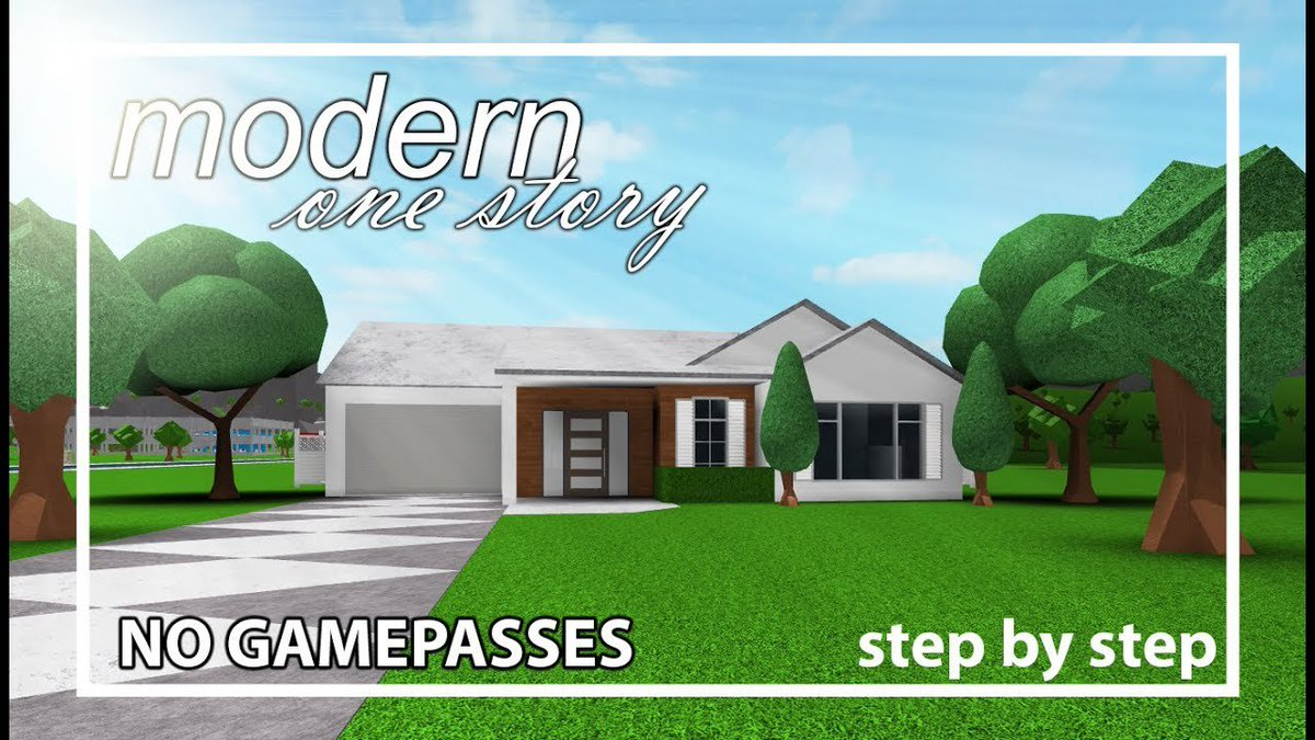 Cancelo Bloxburghousebuild No Twitter - bloxburg modern house tutorial step by step