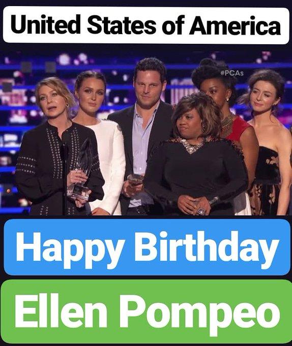 Happy birthday  Ellen Pompeo United states of America