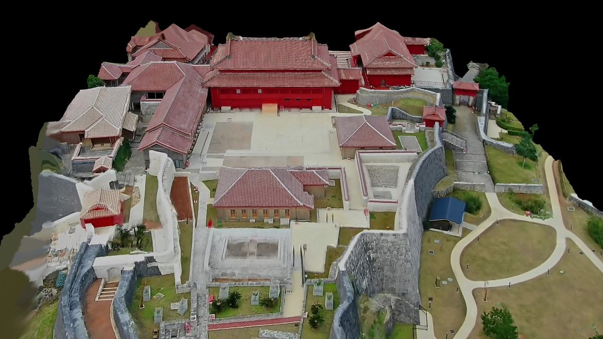 @UNESCO @Sketchfab Another update of textured mesh, covering more terrain of the site. Cant wait to see it uploaded! / サイトのより多くの地形をカバーするテクスチャメッシュの別の更新。アップロードされるのを待ちきれません!#首里城