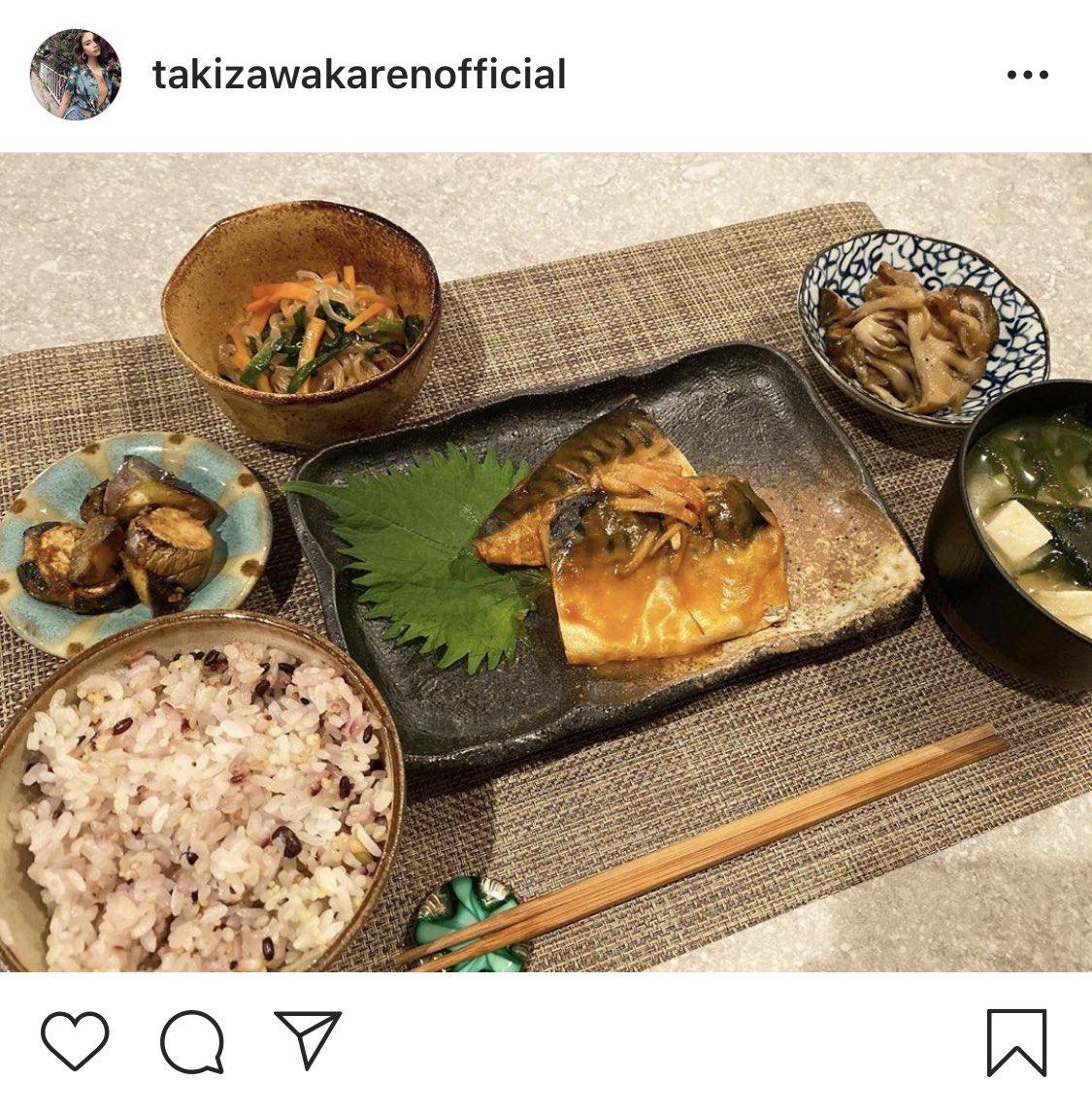 滝沢カレンさんがインスタにアップしてる食事の栄養バランスが完璧すぎるからみんなに見てほしい。