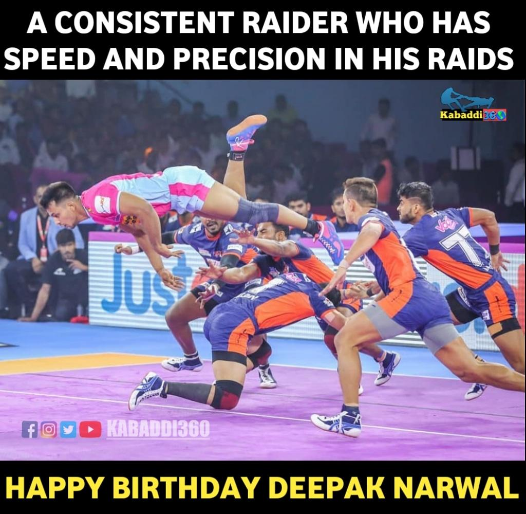 Wishing dependable Deepak Narwal many many happy returns of the day!  #DeepakNarwal #HappyBirthday  #Kabaddi360  #IsseToughKuchNahi