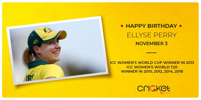 Happy Birthday to Ellyse Perry!