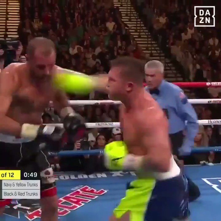 Canelo Alverez's 4th division title came on a stunning right hook