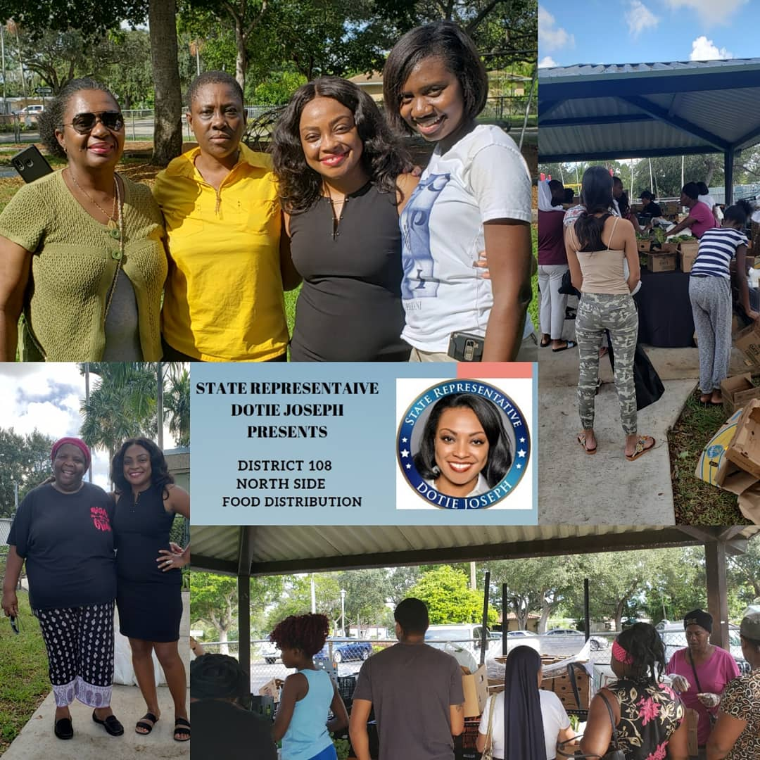 Yesterday, we provided just over 280 adults and children with nourishing food (fresh produce, healthy non-perishables, juice and milk) as part of the District 108 Northside distribution powered by Feeding South Florida's mobile food program.  #TeamDotie tackling #foodinsecurity