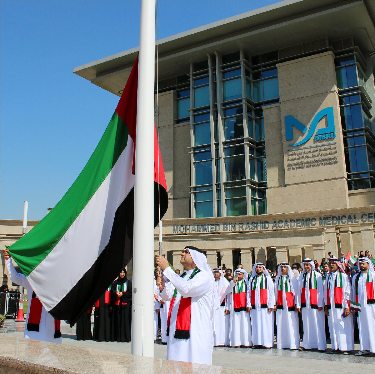 A symbol of unity, sovereignty and pride - This flag day, let's 'Raise it High, Raise it Proud'! @MBRUniversity #CommunityOfChoice #DHCC #Healthcare #Wellness #PatientSafety #Innovation #AlliedHealthcare #Dubai #MyDubai #DXB #HealthcareDestination #FlagDay #UAEpic.twitter.com/yCBNIJpzss