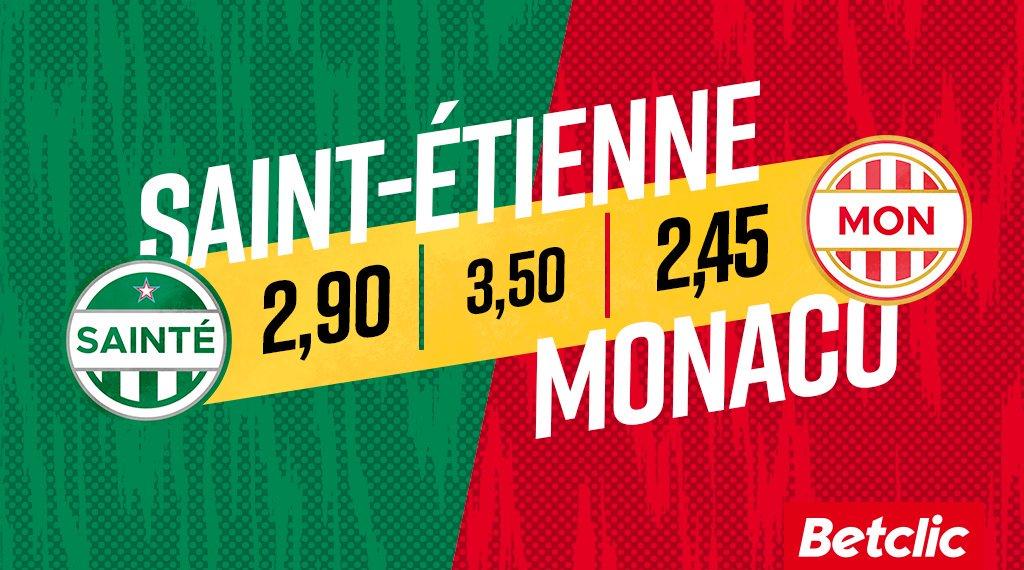 La tendance des parieurs pour ce #ASSEASM : 💚 23% Sainté 🤝 24% Nul 🔴 53% Monaco