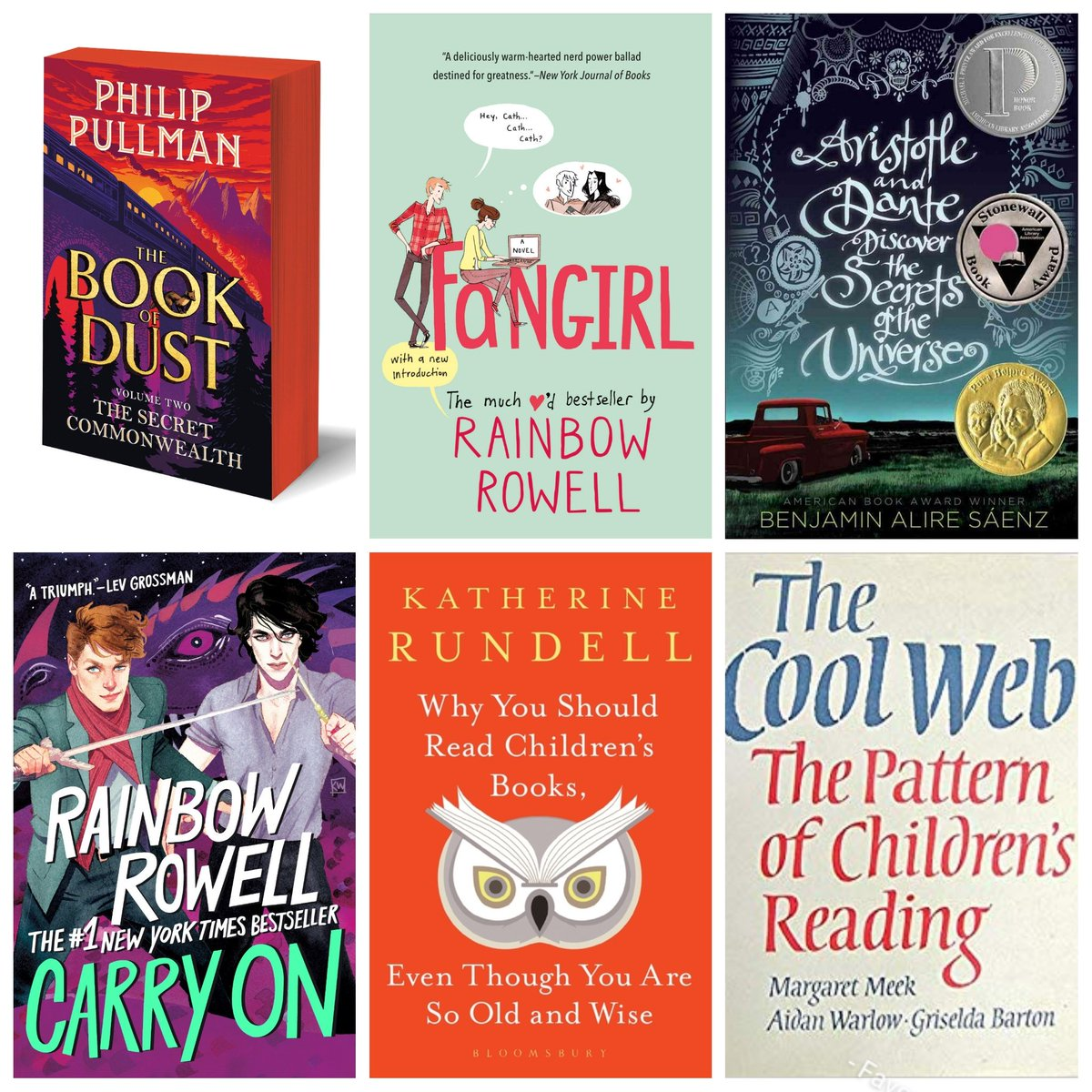 🌟After much deliberation, this is what Ive decided on for my November AND December reading! Have already read a lot of The Cool Web, but would like to return to it and cant wait for Carry On! What are your reading plans for the rest of the year?🌟