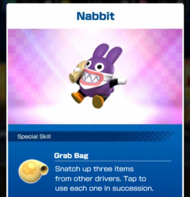 mario kart tour nabbit